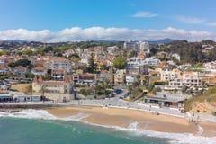 Εναέρια άποψη της ακτής του Εστορίλ κοντά στη Λισσαβώνα στην Πορτογαλία Στοκ Εικόνες