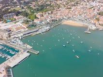 Εναέρια άποψη της ακτής του Κασκάις κοντά στη Λισσαβώνα, Πορτογαλία Στοκ Εικόνες