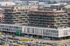 Εναέρια άποψη της Αμβέρσας με το σύγχρονο γραφείο buildingsm Βέλγιο Στοκ Φωτογραφία