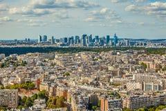 Εναέρια άποψη της αμυντικής οικονομικής περιοχής Λα στο Παρίσι Στοκ Φωτογραφίες