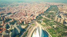 Εναέρια άποψη της Βαλένθια, Ισπανία φιλμ μικρού μήκους