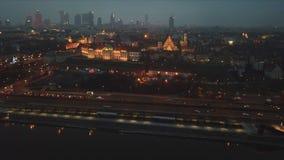 Εναέρια άποψη της Βαρσοβίας απόθεμα βίντεο
