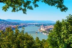 Εναέρια άποψη της Βουδαπέστης, Ουγγαρία στοκ φωτογραφία