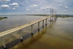 Εναέρια άποψη της γέφυρας του Σίδνεϊ Lanier στοκ εικόνες