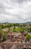 Εναέρια άποψη της εικονικής παράστασης πόλης ελβετική κύρια Βέρνη Στοκ εικόνα με δικαίωμα ελεύθερης χρήσης