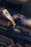 Εναέρια άποψη της κίνησης του γερανού με έναν σωρό του άνθρακα δίπλα στον άνθρακα Στοκ Εικόνες
