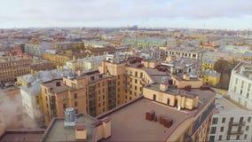 Εναέρια άποψη της κατοικήσιμης περιοχής στην Άγιος-Πετρούπολη φιλμ μικρού μήκους