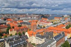 Εναέρια άποψη της Κοπεγχάγης, Δανία Στοκ Φωτογραφίες