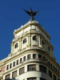 Εναέρια άποψη της κορυφής ενός ιστορικού κτηρίου στη Μαδρίτη Στοκ Φωτογραφίες