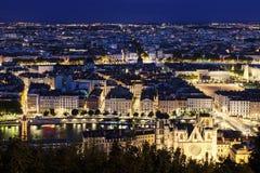 Εναέρια άποψη της Λυών Στοκ φωτογραφίες με δικαίωμα ελεύθερης χρήσης