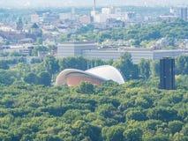 Εναέρια άποψη της μπορντούρας Haus der Kulturen der στοκ φωτογραφία με δικαίωμα ελεύθερης χρήσης