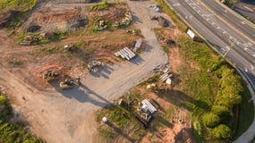 Εναέρια άποψη της νέας κατασκευής λεωφόρων στην Ατλάντα Γεωργία Στοκ φωτογραφία με δικαίωμα ελεύθερης χρήσης