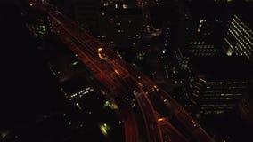 Εναέρια άποψη της νύχτας Τόκιο απόθεμα βίντεο