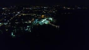 Εναέρια άποψη της νύχτας Refineryat φιλμ μικρού μήκους
