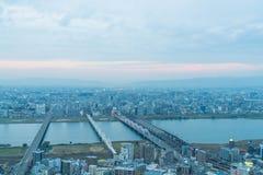 Εναέρια άποψη της Οζάκα Ιαπωνία Στοκ φωτογραφία με δικαίωμα ελεύθερης χρήσης
