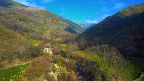 Εναέρια άποψη της οροσειράς de Gredos στο Λα Βέρα, Εστρεμαδούρα Ισπανία απόθεμα βίντεο
