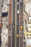 Εναέρια άποψη της οδού στην πόλη της Νέας Υόρκης, ΗΠΑ Στοκ Εικόνες
