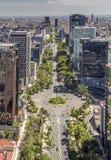Εναέρια άποψη της οδού reforma της Πόλης του Μεξικού στοκ εικόνες