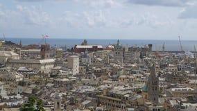 Εναέρια άποψη της παλαιάς πόλης Γένοβα Ορίζοντας Γένοβας, Ιταλία φιλμ μικρού μήκους