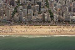 Εναέρια άποψη της παραλίας Ipanema Στοκ Εικόνες