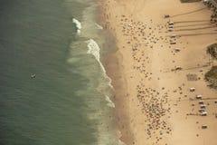 Εναέρια άποψη της παραλίας Ipanema Στοκ Φωτογραφίες
