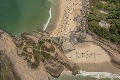 Εναέρια άποψη της παραλίας Ipanema Στοκ φωτογραφία με δικαίωμα ελεύθερης χρήσης