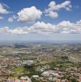 Εναέρια άποψη της περιοχής του Marche στην Ιταλία Στοκ φωτογραφία με δικαίωμα ελεύθερης χρήσης