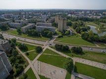 Εναέρια άποψη της περιοχής Kalnieciai σε Kaunas στοκ φωτογραφίες