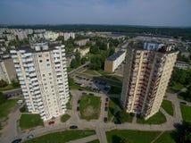 Εναέρια άποψη της περιοχής Kalnieciai σε Kaunas στοκ φωτογραφία