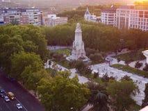 Εναέρια άποψη της πλατείας της Ισπανίας στη Μαδρίτη Στοκ Εικόνα