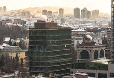 Εναέρια άποψη της πρωτεύουσας της Τουρκίας Η Άγκυρα είναι η πρωτεύουσα της Τουρκίας, επιχειρησιακή πόλη Στοκ εικόνα με δικαίωμα ελεύθερης χρήσης