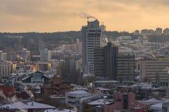 Εναέρια άποψη της πρωτεύουσας της Τουρκίας Η Άγκυρα είναι η πρωτεύουσα της Τουρκίας, επιχειρησιακή πόλη Στοκ Φωτογραφία