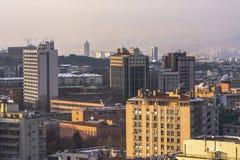 Εναέρια άποψη της πρωτεύουσας της Τουρκίας Η Άγκυρα είναι η πρωτεύουσα της Τουρκίας, επιχειρησιακή πόλη Στοκ φωτογραφία με δικαίωμα ελεύθερης χρήσης