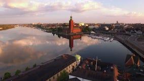 Εναέρια άποψη της πόλης της Στοκχόλμης φιλμ μικρού μήκους