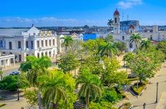 Εναέρια άποψη της πόλης του Σαντιάγο στοκ εικόνες με δικαίωμα ελεύθερης χρήσης