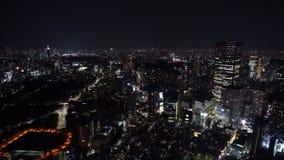 Πόλη του Τόκιο τη νύχτα, Ιαπωνία απόθεμα βίντεο