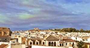 Εναέρια άποψη της πόλης Antequera, Ανδαλουσία Στοκ εικόνα με δικαίωμα ελεύθερης χρήσης