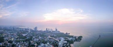 Εναέρια άποψη της πόλης Pattaya στο suset Στοκ εικόνα με δικαίωμα ελεύθερης χρήσης