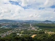 Εναέρια άποψη της πόλης Phuket, Ταϊλάνδη Στοκ εικόνα με δικαίωμα ελεύθερης χρήσης