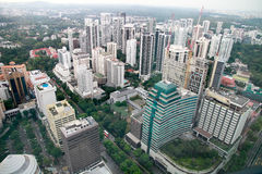 Εναέρια άποψη της πόλης Σινγκαπούρης Στοκ Εικόνες