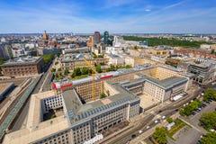 Εναέρια άποψη της πόλης του Βερολίνου Στοκ εικόνα με δικαίωμα ελεύθερης χρήσης