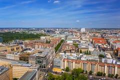 Εναέρια άποψη της πόλης του Βερολίνου στοκ φωτογραφίες