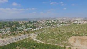 Εναέρια άποψη της πόλης του Ariel απόθεμα βίντεο