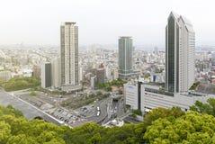 Εναέρια άποψη της πόλης του Kobe από το υποστήριγμα Rokko, τον ορίζοντα και τη εικονική παράσταση πόλης του Kobe Στοκ Εικόνες