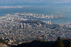 Εναέρια άποψη της πόλης του Kobe, Ιαπωνία Στοκ εικόνα με δικαίωμα ελεύθερης χρήσης