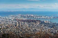 Εναέρια άποψη της πόλης του Kobe Στοκ φωτογραφία με δικαίωμα ελεύθερης χρήσης