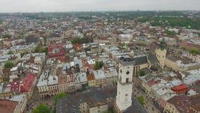 Εναέρια άποψη της πόλης Lviv φιλμ μικρού μήκους