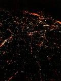 Εναέρια άποψη της Σιγκαπούρης τη νύχτα Στοκ Εικόνες