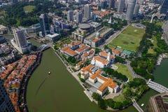 Εναέρια άποψη της Σιγκαπούρης στοκ φωτογραφίες με δικαίωμα ελεύθερης χρήσης