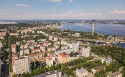 Εναέρια άποψη της Τάμπερε Στοκ φωτογραφία με δικαίωμα ελεύθερης χρήσης